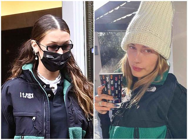 画像: ノース・フェイスとMM6のコラボをベラ&ヘイリーが着用!それぞれのコーデをお披露目 - フロントロウ -海外セレブ情報を発信