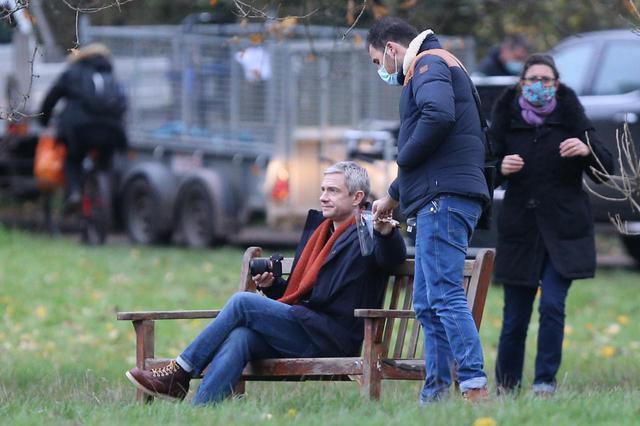 画像4: マーティン・フリーマン自身が手掛けるドラマの撮影