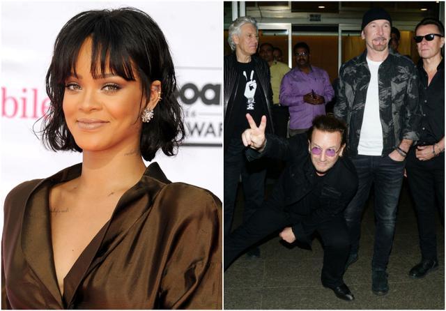 画像: 左:リアーナ、右:U2