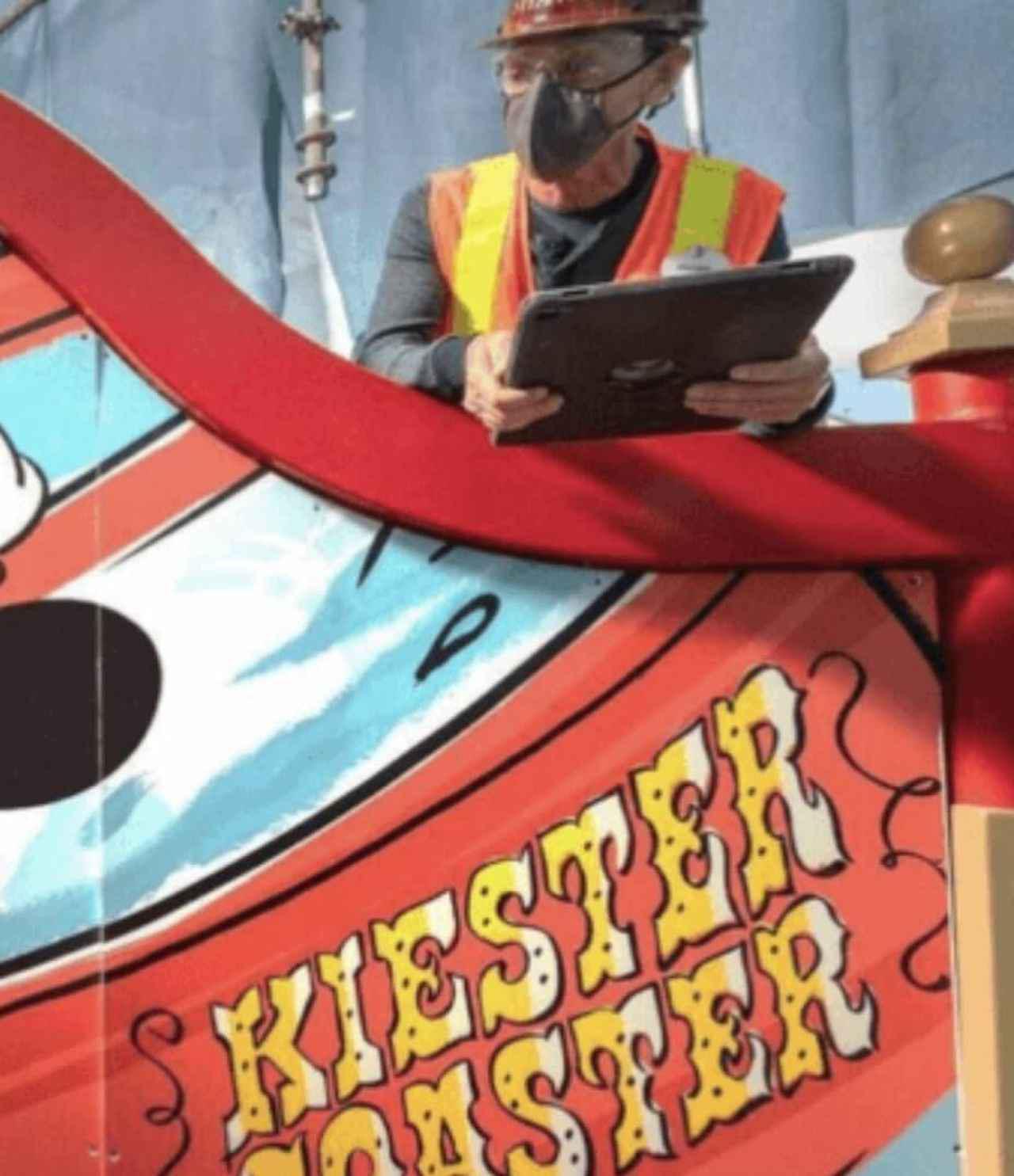 画像: 正しくは「Keister」だが、「K ie ster」になってしまっている。