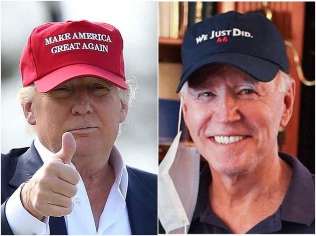 画像: ジョー・バイデン氏、「帽子」を使ってトランプ大統領に勝利宣言? - フロントロウ -海外セレブ情報を発信