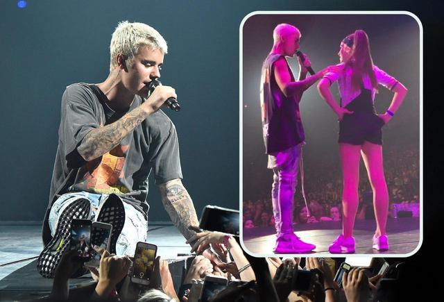 画像: ジャスティン・ビーバーのPurpose World Tourのカルガリー公演にダンサーとして出演したテイト・マクレー(右)。