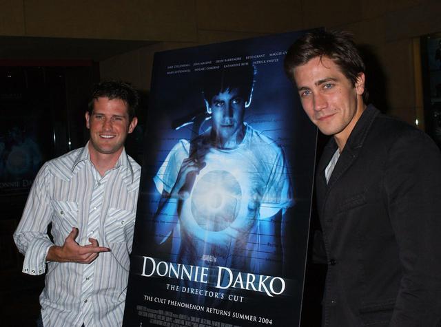 画像: リチャード・ケリー監督とジェイク・ギレンホール。