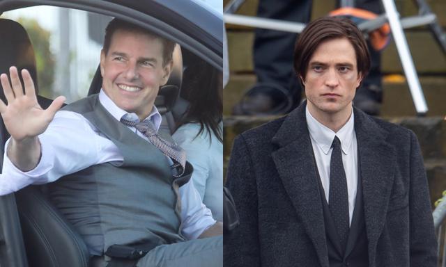 画像: 左:『ミッションイン・ポッシブル』の7作目と8作目を同時に撮影するトム・クルーズ、右:リバプールで『The Batman』の撮影に励むロバート・パティンソン