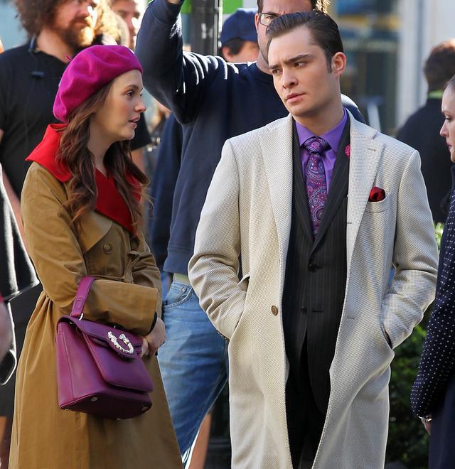 画像: 2012年、『ゴシップガール』撮影中のレイトンとエド。