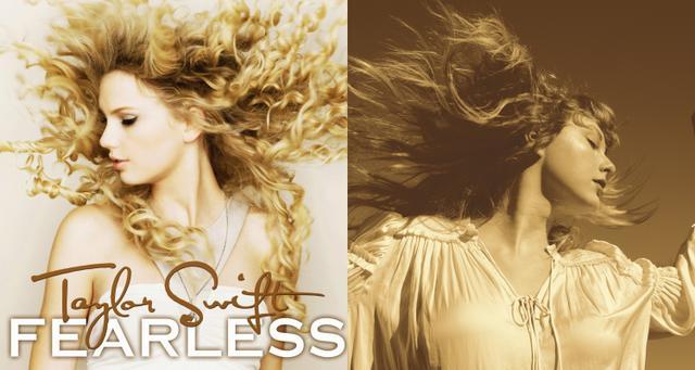 画像: 左:2008年発売の『フィアレス』のカバー