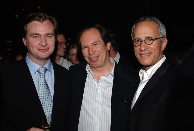 画像: 左からクリストファー・ノーラン監督、ハンス、ジェームズ。