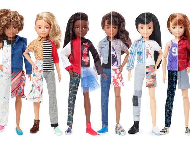 画像: マテル社が販売している男女を自由に切り替えられるバービー人形コレクション「クリエイタブル・ワールド」©Mattel