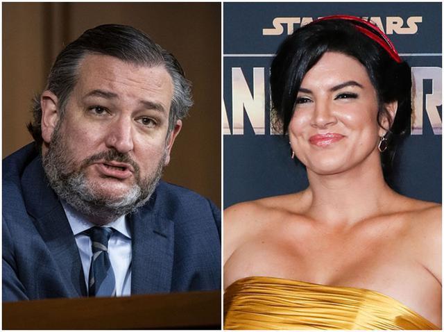 画像: テッド・クルーズ議員(左)とジーナ・カラーノ(右)。