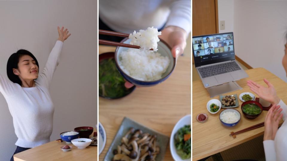 画像: 日本の女性ホストMomoさんが提供する、Airbnbのオンライン体験「Zen Eating」