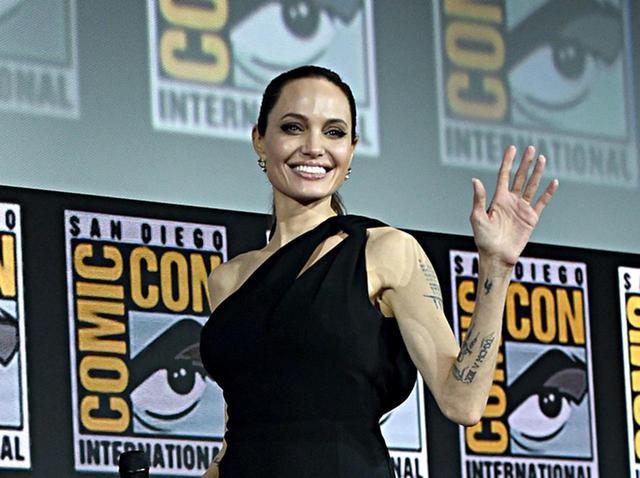 画像: コミコンに登場したアンジェリーナ・ジョリー。