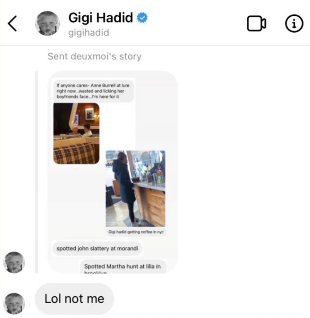 """画像2: ジジ・ハディッドがゴシップサイトの""""間違い""""を指摘"""