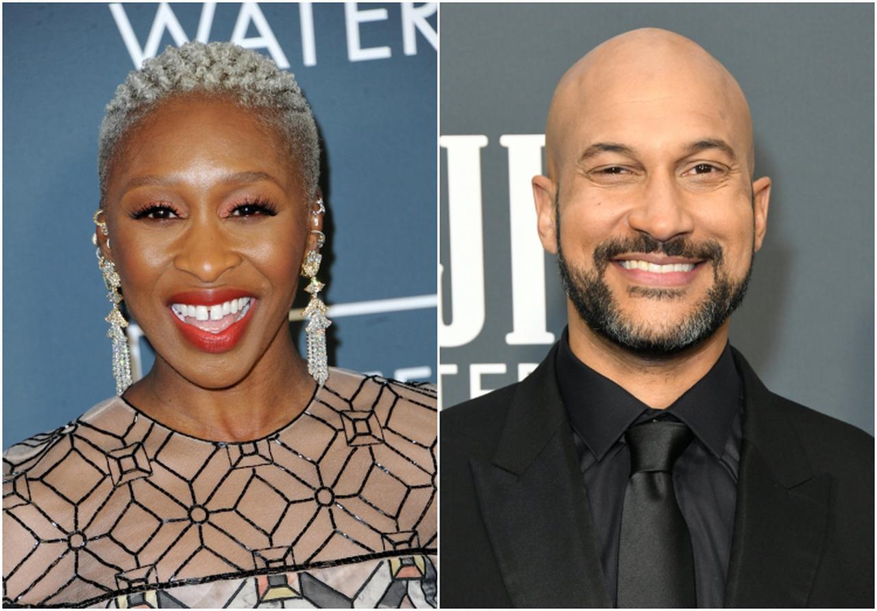 画像: 左:ブルー・フェアリー役のシンシア・エリヴォ、右:オネスト・ジョン役のキーガン=マイケル・キー