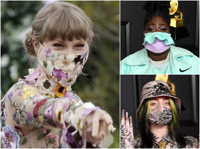 画像: グラミー賞に登場したセレブたちのマスク姿。