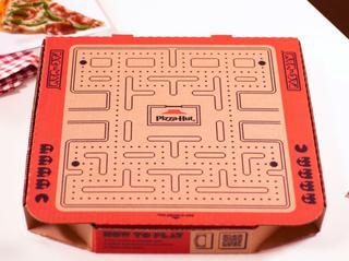 ピザハット、「ピザの箱」を使ったパックマンとのコラボが天才的