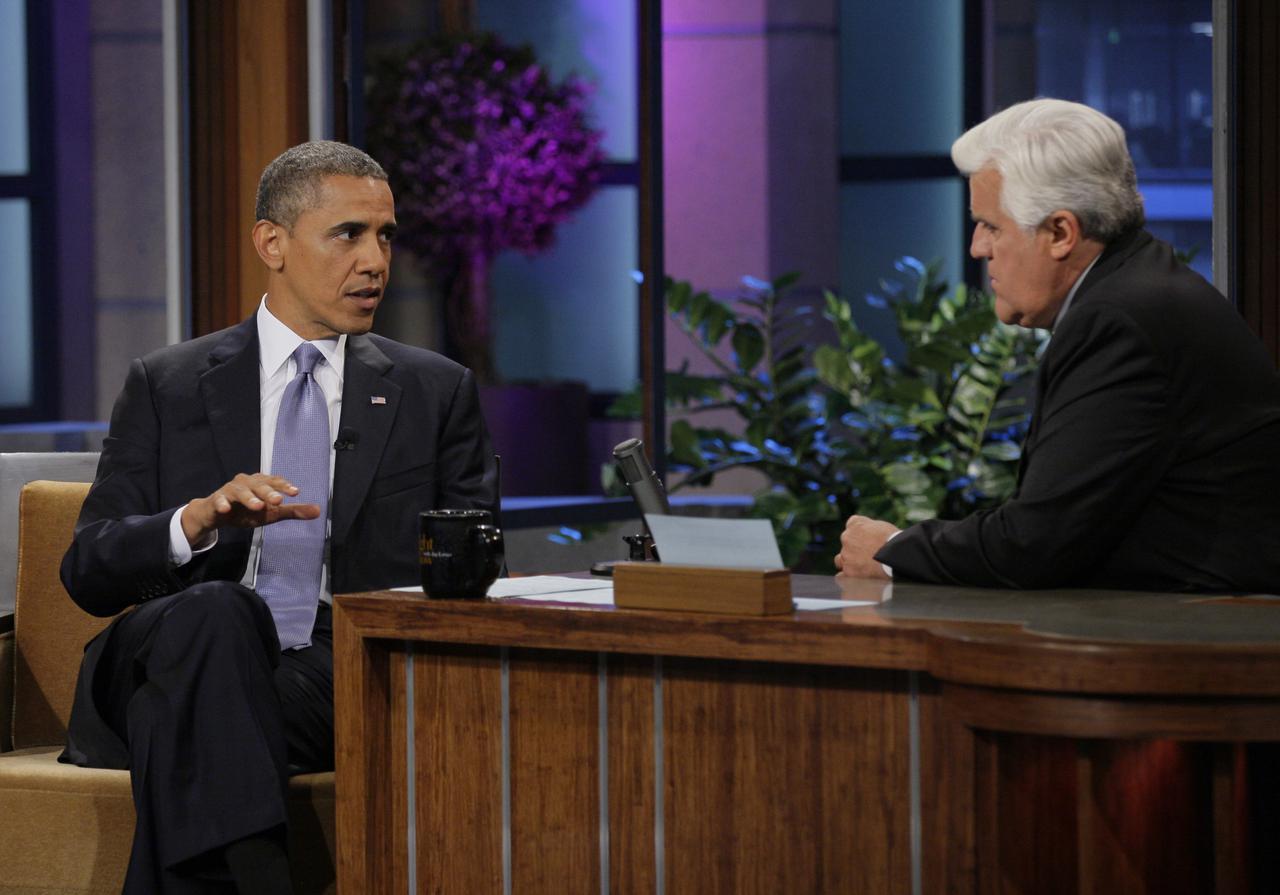 画像: ジェイ・レノはバラク・オバマ米大統領(当時)にインタビューできるほどの大物司会者。