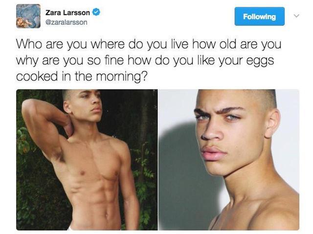 画像: 初めてブライアンのことを知った際には、「あなたは誰、どこに住んでるの、歳はいくつ、なんでそんなにカッコいいの、朝食の卵はどう調理されているのがいい?」とメロメロの様子でツイートしていたザラ。