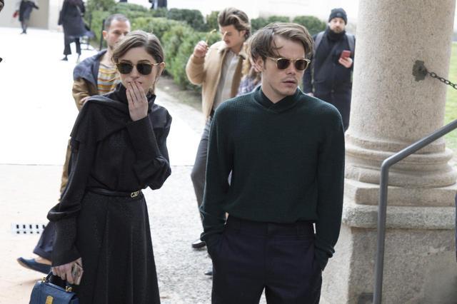 画像: 2019年にイタリアのミラノで開催されたフェラガモのショーに出席したナタリアとチャーリー。