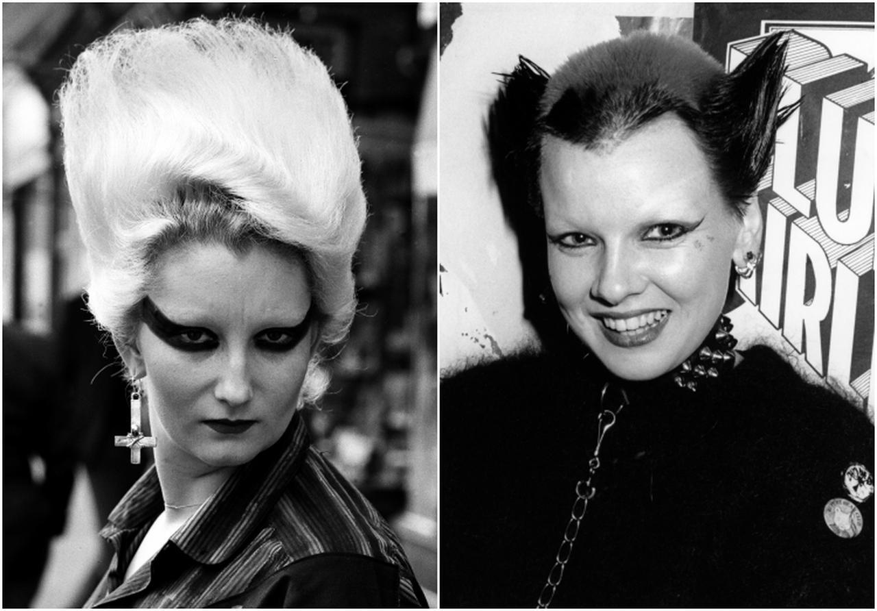 """画像: メイジ―が扮する自称""""パンクロックの女王""""ことジョーダンと、アイリスが扮するスー・キャットウーマン。"""