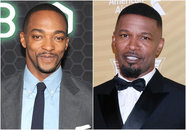 画像: 左:アンソニー・マッキー、右:ジェイミー・フォックス