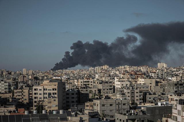 画像: 2021年5月15日に撮影されたパレスチナのガザ地区。