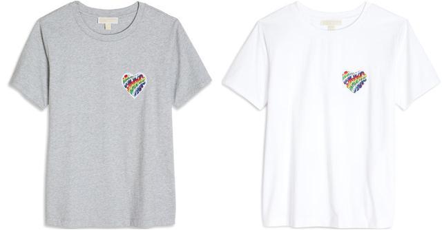 画像: ユニセックス レインボー バッジ T シャツ 13,200 円(税込)  5 月26 日より発売予定
