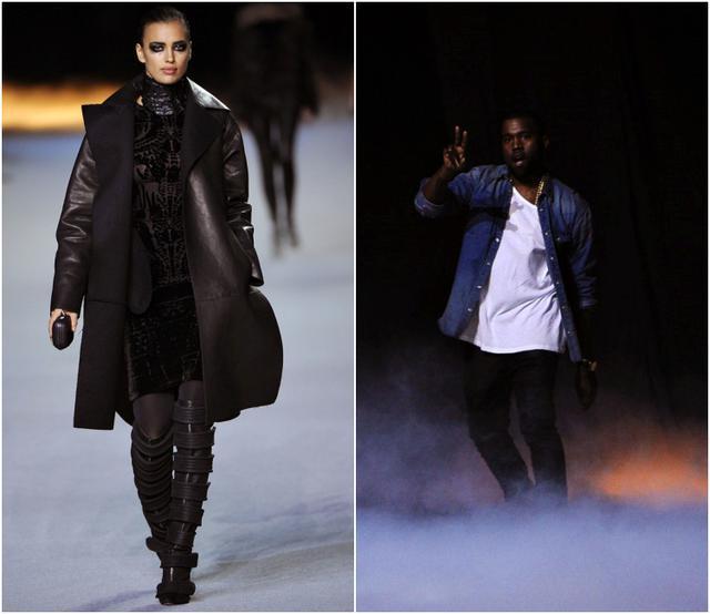 画像: Kanye Westのファッションショーに出演したイリーナ。