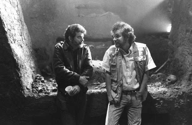 画像: ジョージ・ルーカス(左)、スティーヴン・スピルバーグ(右)