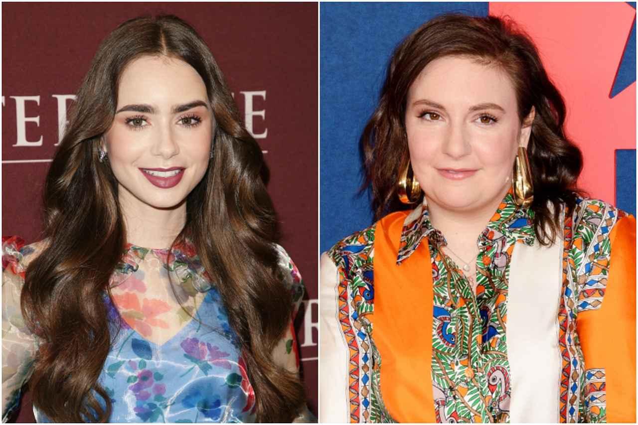 画像: 左:リリー・コリンズ、右:レナ・ダナム