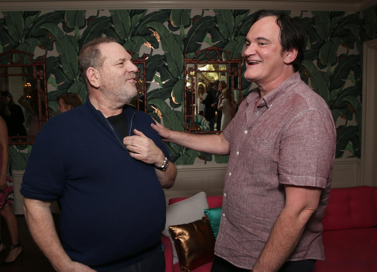 画像: 2016年に撮影されたハーヴェイ・ワインスタイン(左)とクエンティン・タランティーノ(右)。