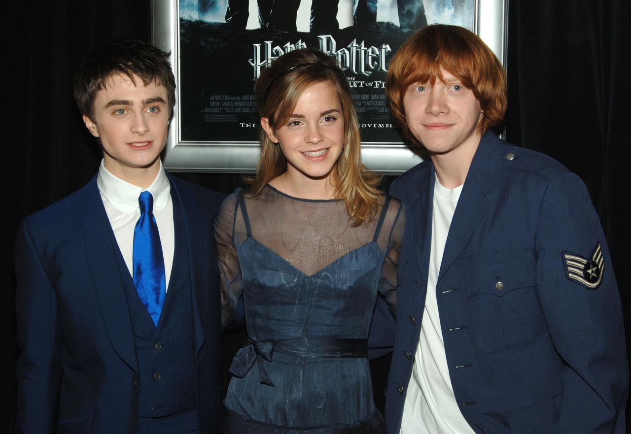 画像: 『ハリー・ポッターと炎のゴブレット』のニューヨーク・プレミアにて。