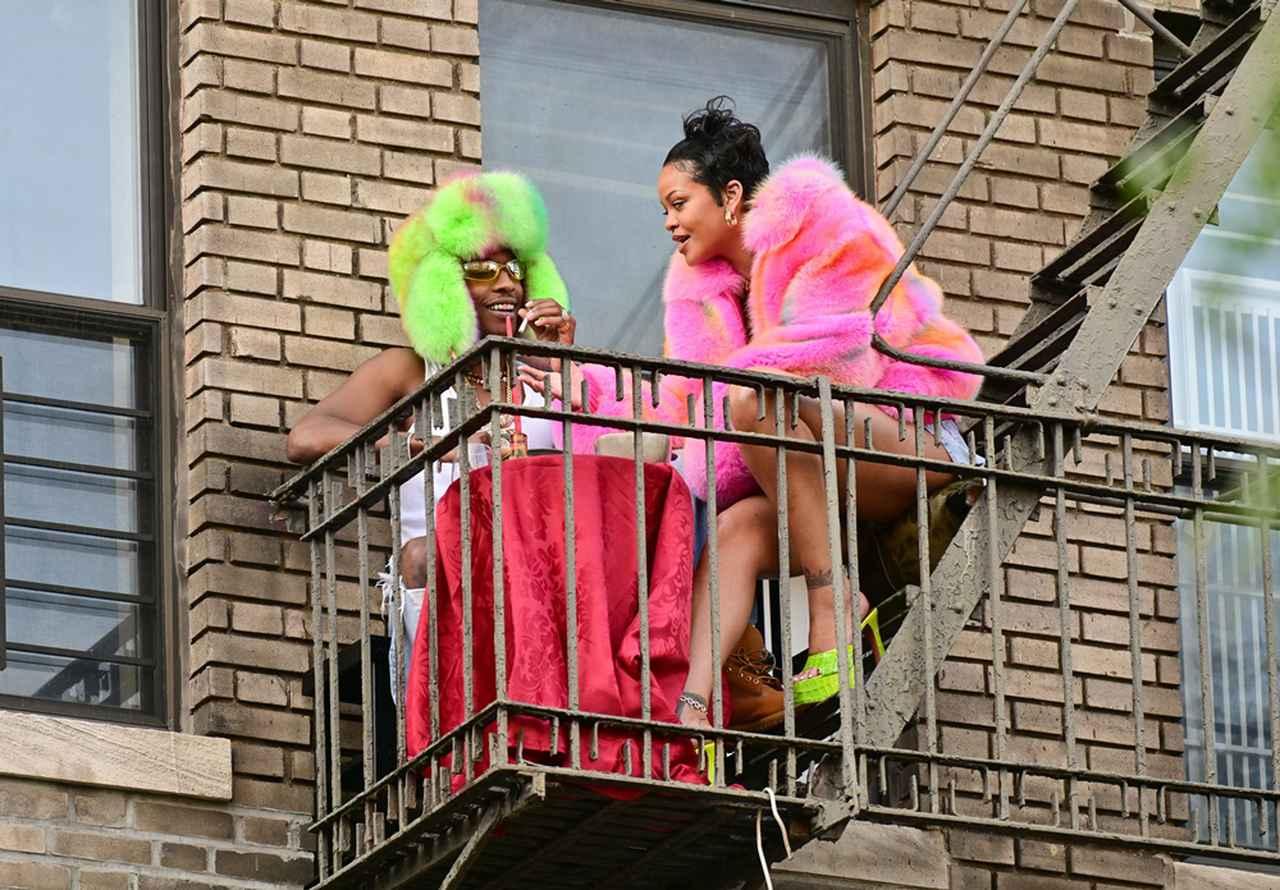 画像3: リアーナとエイサップがニューヨークで撮影