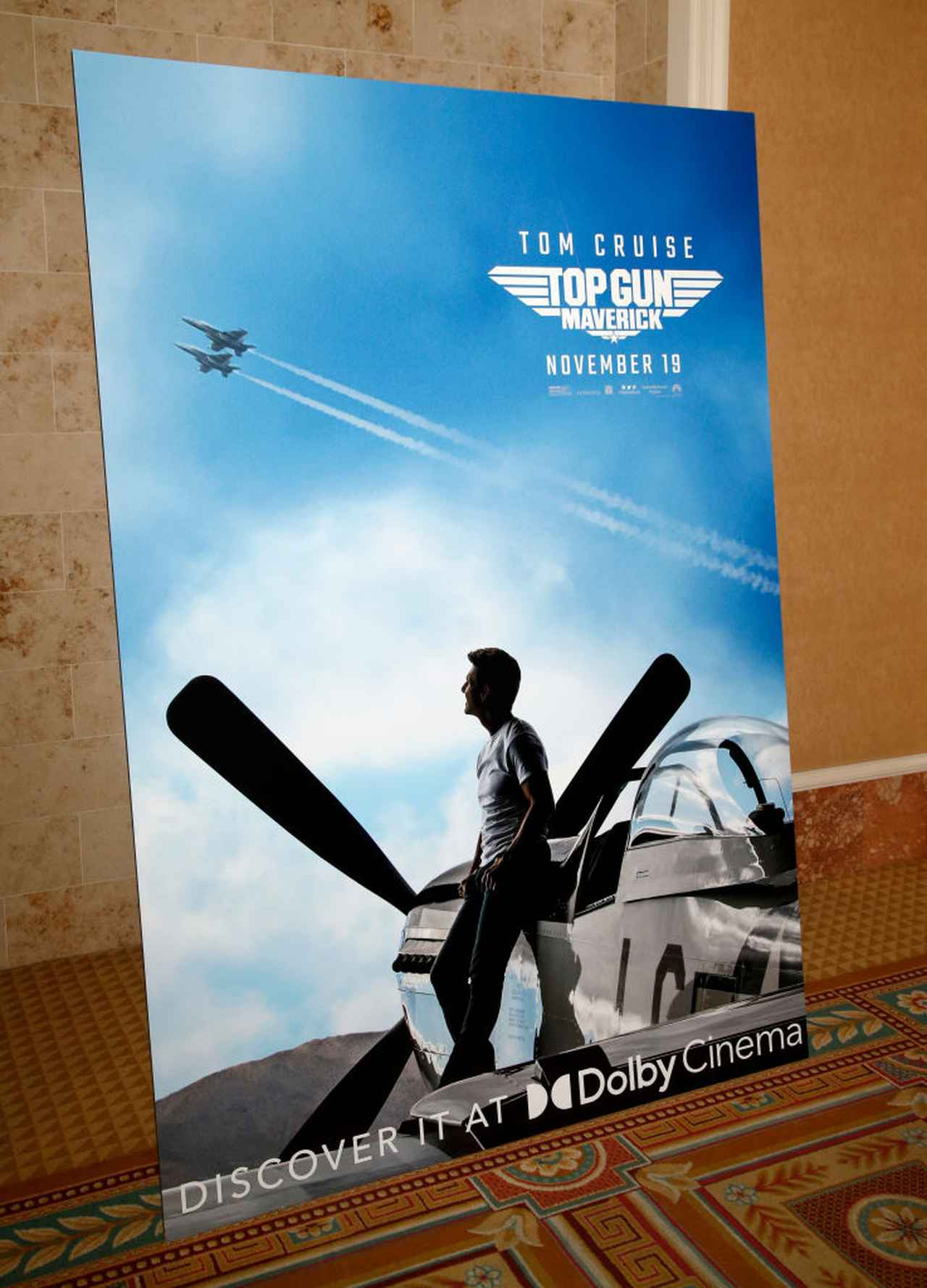 画像: CinemaCon2021の会場に置かれた、『トップガン マーヴェリック』のポスター。