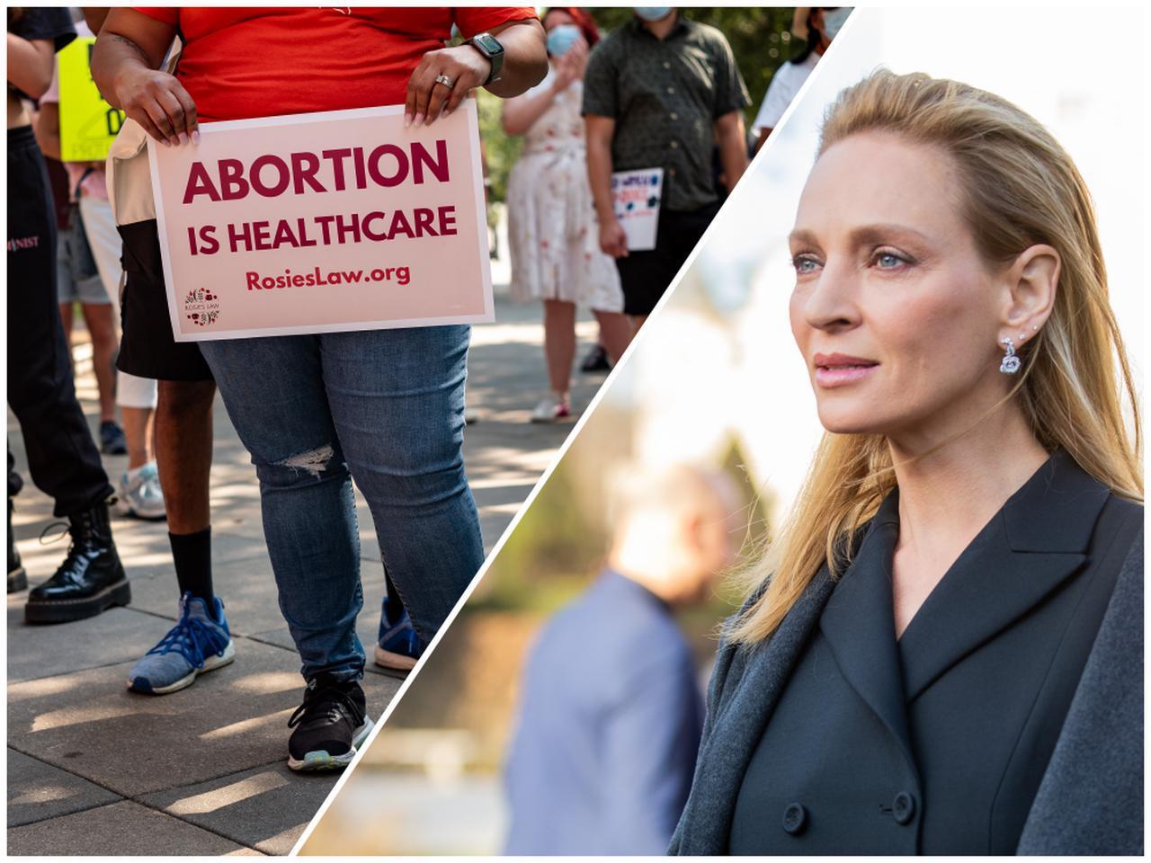 画像: ユマ・サーマンが中絶制限法に声をあげる