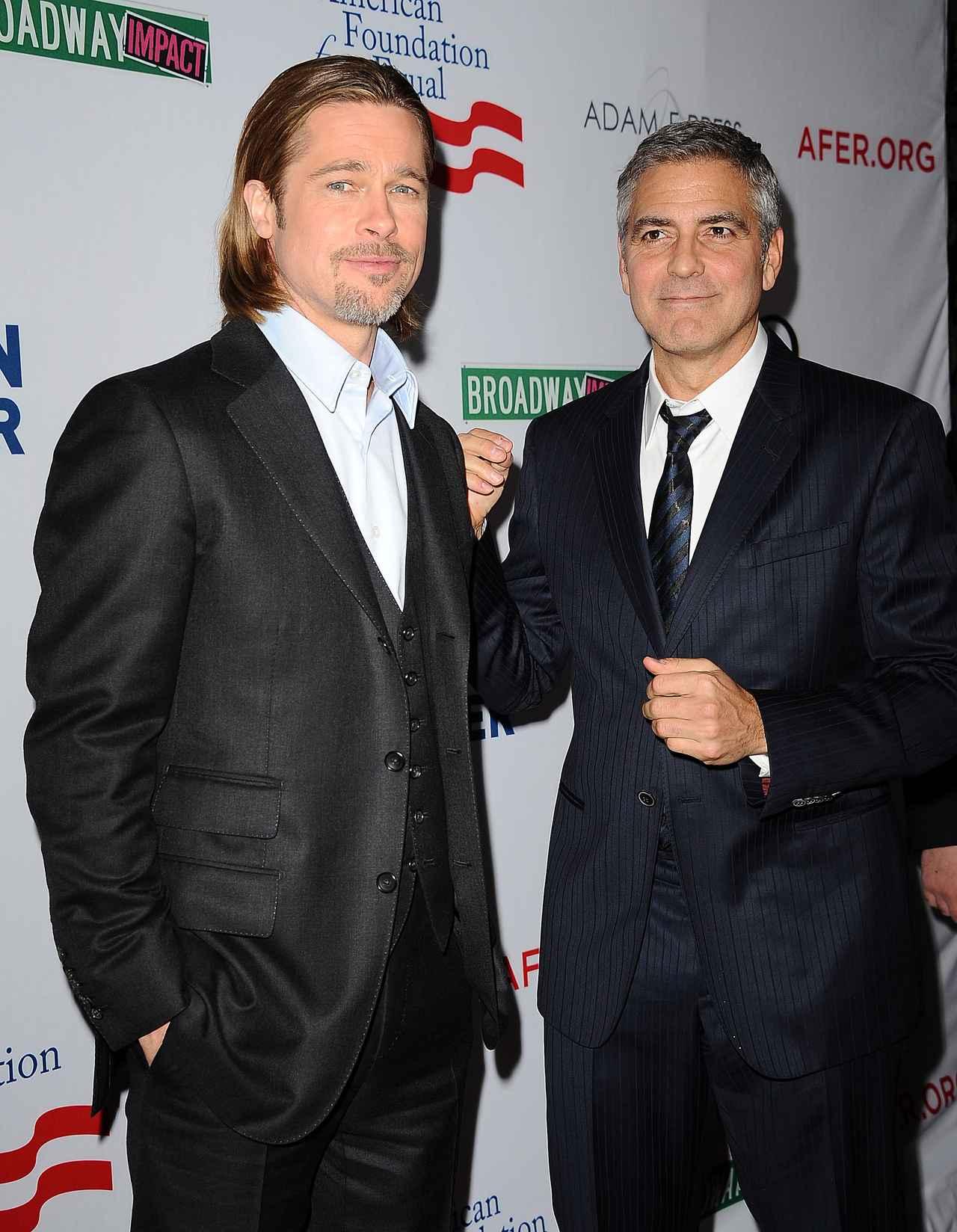 画像: 2012年に撮影されたブラッド・ピットとジョージ・クルーニー