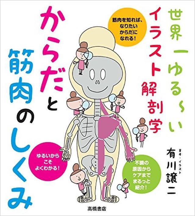 画像: 世界一ゆる~いイラスト解剖学 からだと筋肉のしくみ | 有川 譲二 |本 | 通販 | Amazon