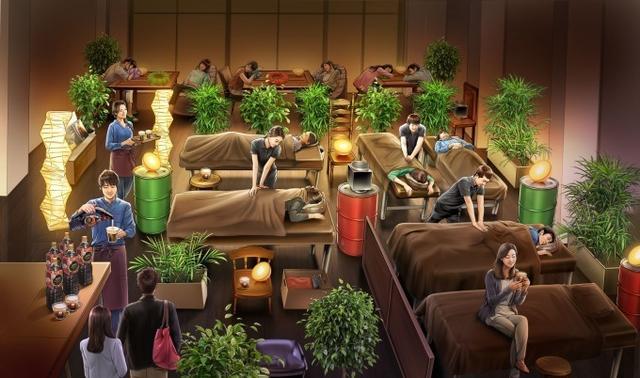 """画像: 「睡眠カフェ」関西初上陸、大阪・なんばで""""もみほぐし""""付き極上リラクゼーション"""