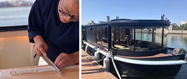 画像: 船上で寿司を味わう。大阪北新地の名店「鮨 さえ㐂」が手掛ける鮨船『楼船 さえ㐂(ろうせん さえき)』オープン