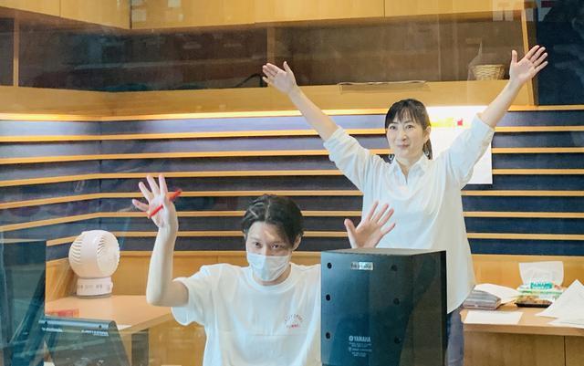 画像: ★OH! MY MORNINGチームに手を振るしゅくちゃん。