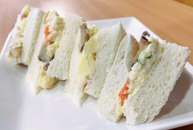 画像1: いぶりがっこポテトサラダサンドイッチ