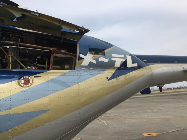 """画像: 機体後部には""""メ~テレ""""の文字。稲妻が金色に輝きます。"""