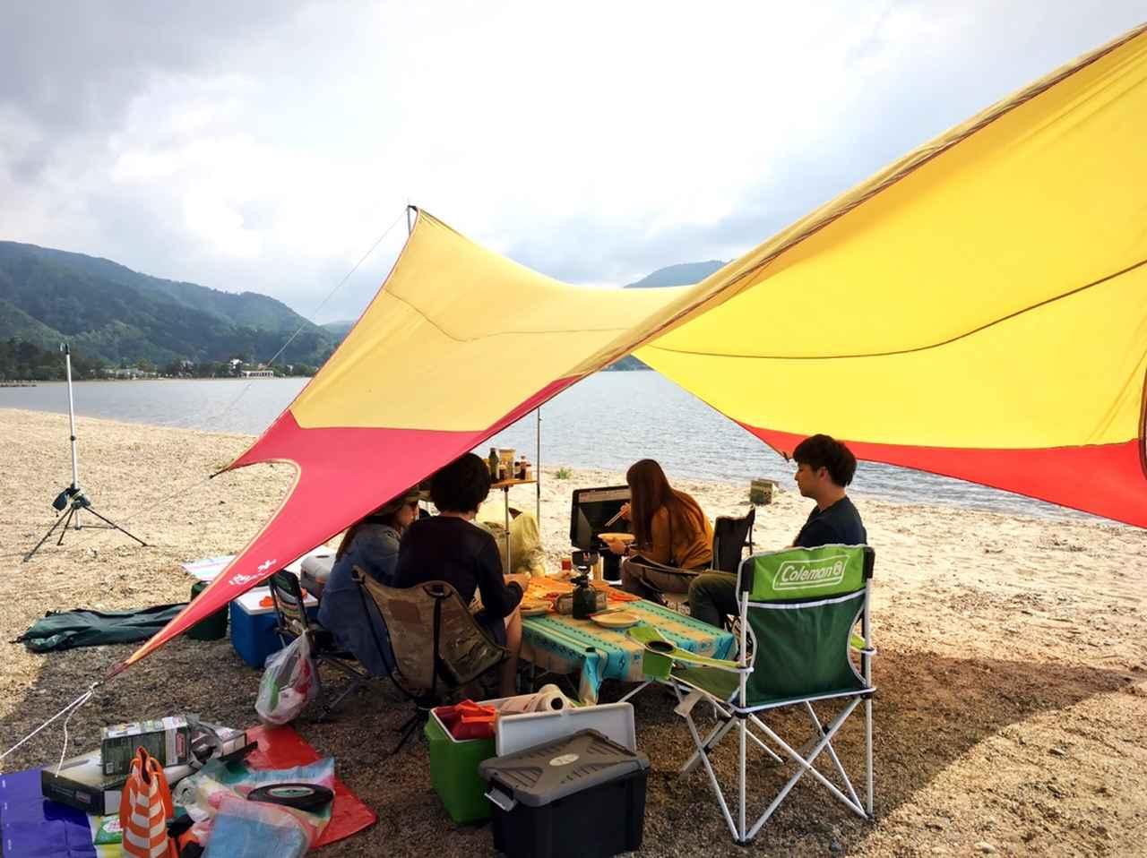 画像: 知内浜オートキャンプ場にて