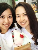画像: 姉とバラのジェラート♪