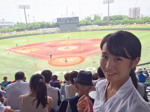 画像: 愛知大会決勝の取材中です!
