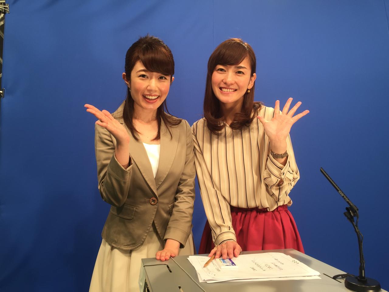 """画像: この""""クロマキー""""と言われる場所で放送することで、 オンエアでは名古屋の外の様子がご覧頂けています。"""