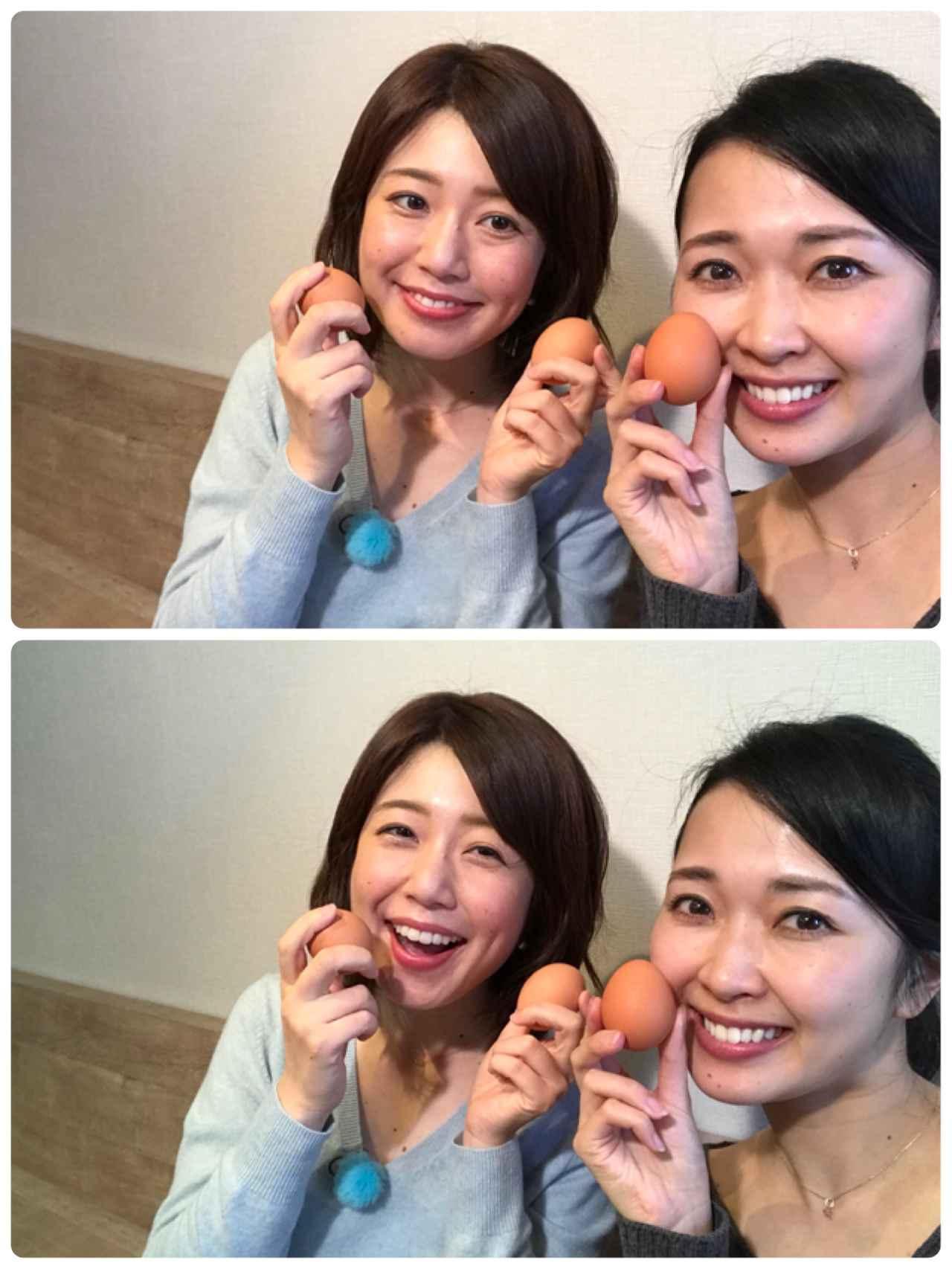 画像: 生卵が重要なのです(^^) 食べた後の杏奈ちゃんの反応が良くって嬉しい!