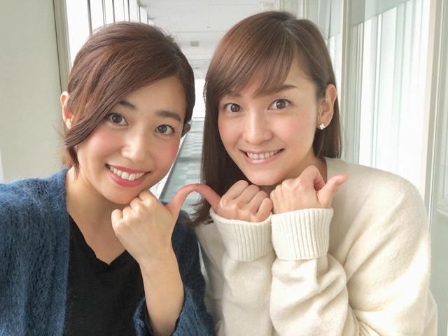 画像: イイねポーズ♪しおりさんとツーショット久しぶりでテンション上がりました^^裕二さんとしおりさんはスタジオMCですよ。