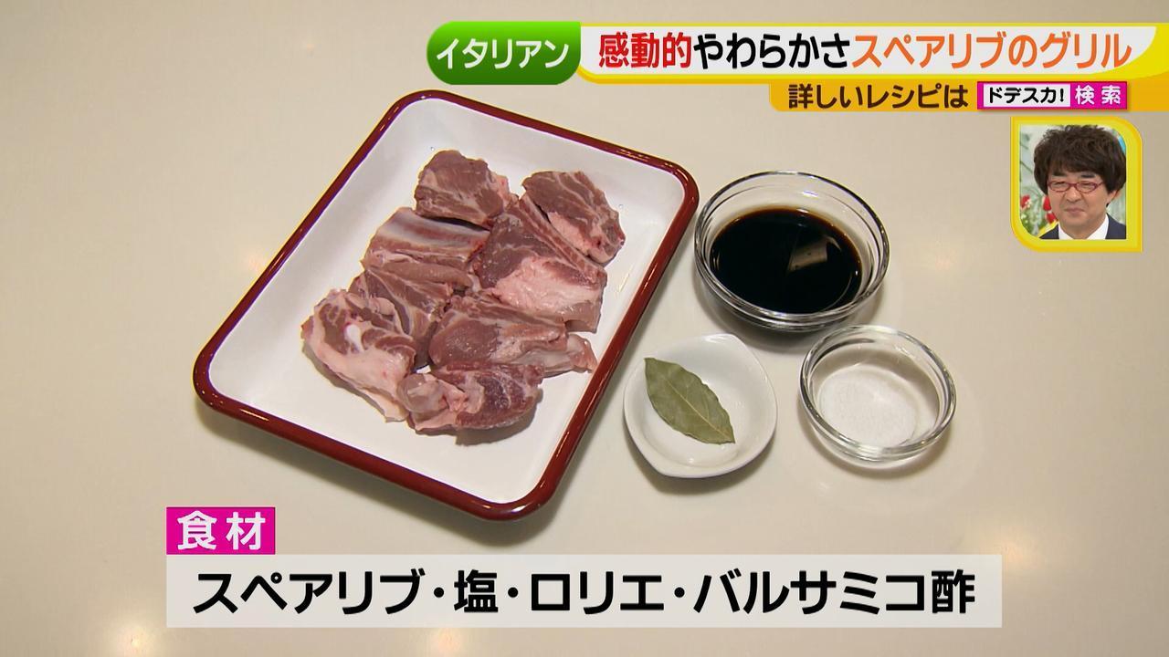 画像: 【材料】(4人分) スペアリブ…500g 塩…小さじ1 ローリエ…1枚 バルサミコ酢…80ml