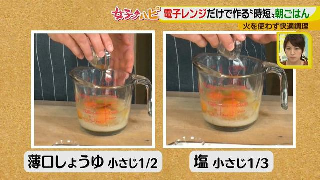 画像6: 涼しくカンタンに!電子レンジで作る朝ごはん♪ ~だし巻き卵~
