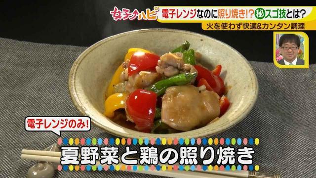 画像10: 涼しく作ろう!夏野菜と鶏の照り焼き風 電子レンジでカンタン&快適調理♪